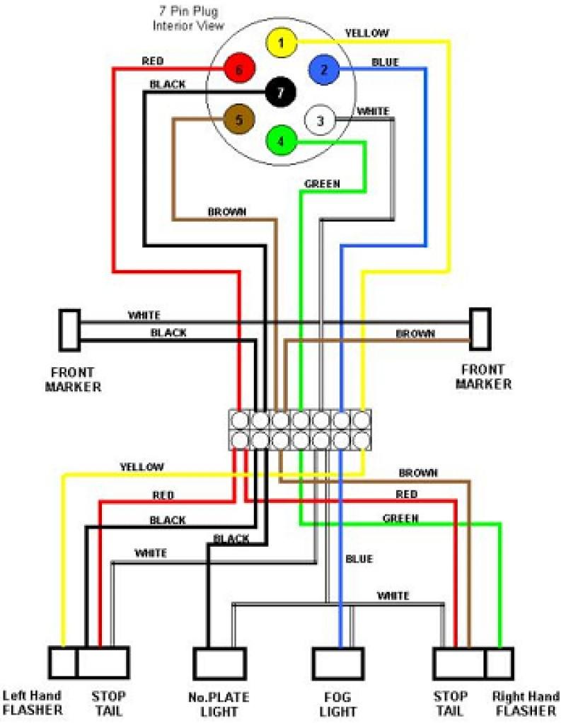 Admirable Wiring Diagram 7 Way Trailer Plug Basic Electronics Wiring Diagram Wiring Cloud Hemtegremohammedshrineorg
