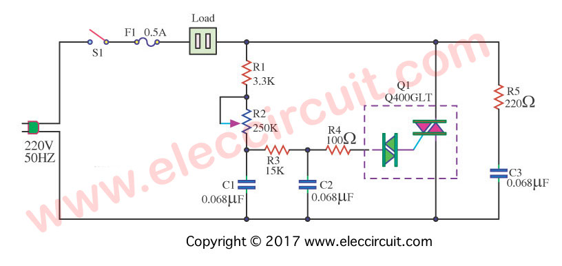 touch dimmer wiring diagram ox 7176  dimmer as shown in figure 13 it is a simple circuit of  ox 7176  dimmer as shown in figure 13