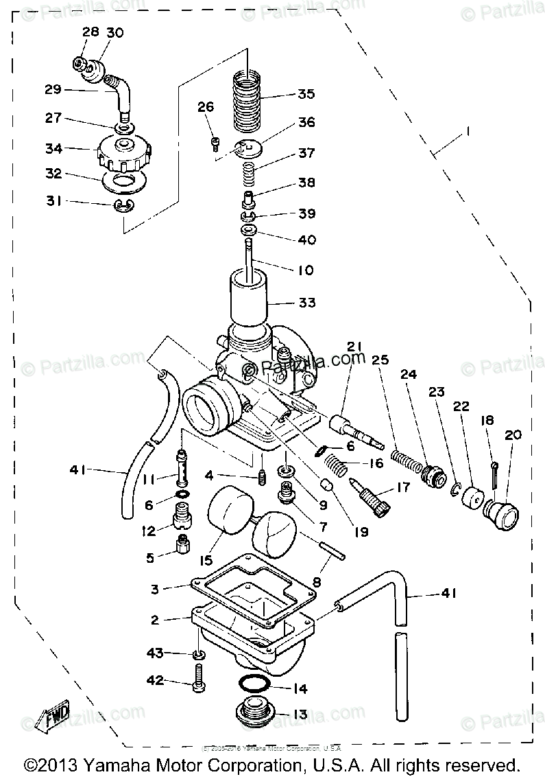 yamaha trx 850 wiring diagram hv 0706  diagram of 1981 dt125h yamaha motorcycle carburetor  1981 dt125h yamaha motorcycle