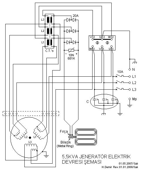 Sensational 5 5Kva Generator Electrical Circuit Diagram Electronik Computer Wiring Cloud Cranvenetmohammedshrineorg