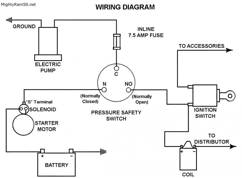 De 6665 Wiring A Electric Fuel Pump With Relay