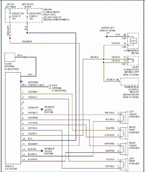 Stereo Wiring Diagram Mitsubishi Mirage Schematic Wiring Diagram