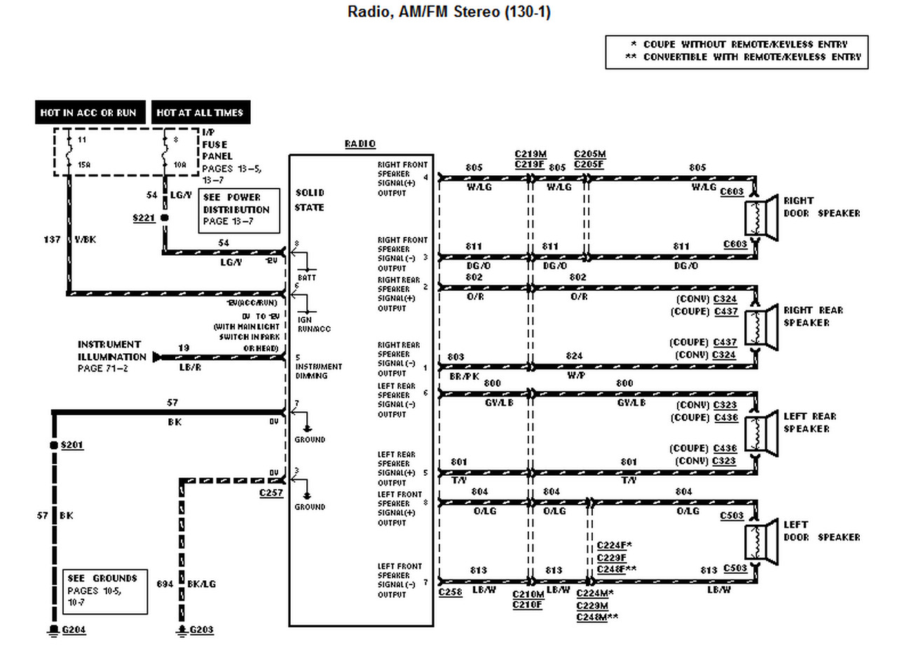 2003 Mustang Radio Wiring Diagram
