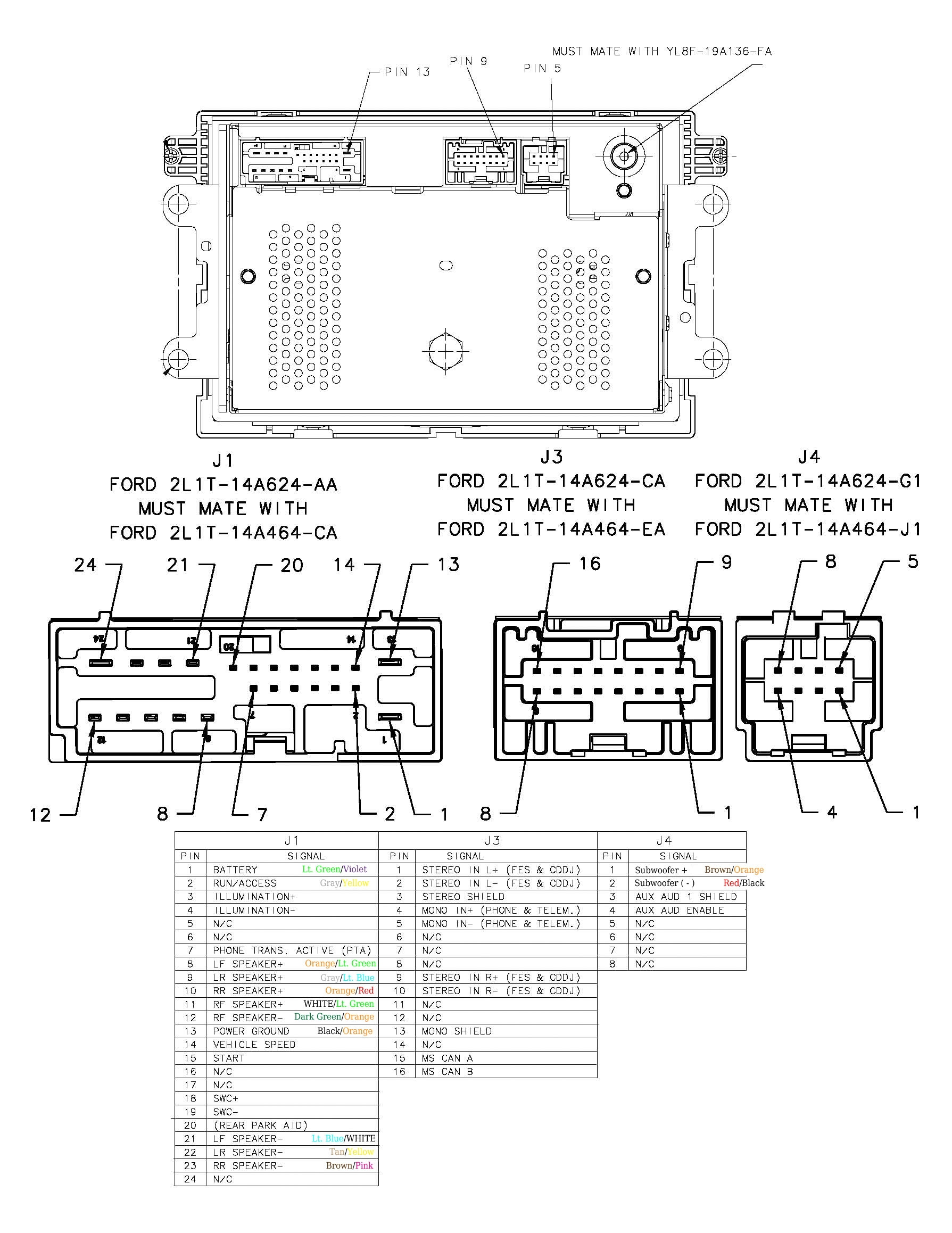 1999 Ford Mustang Radio Wiring Diagram - Collection ...