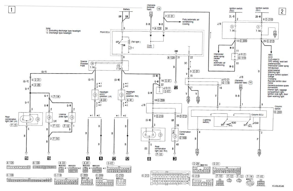 2001 Mitsubishi Mirage Wiring Diagram