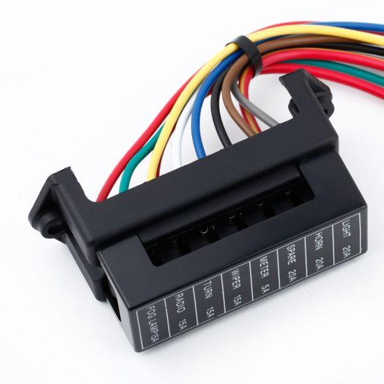 Tremendous China 8 Way Dc32V Circuit Car Trailer Auto Blade Fuse Box Block Wiring Cloud Filiciilluminateatxorg