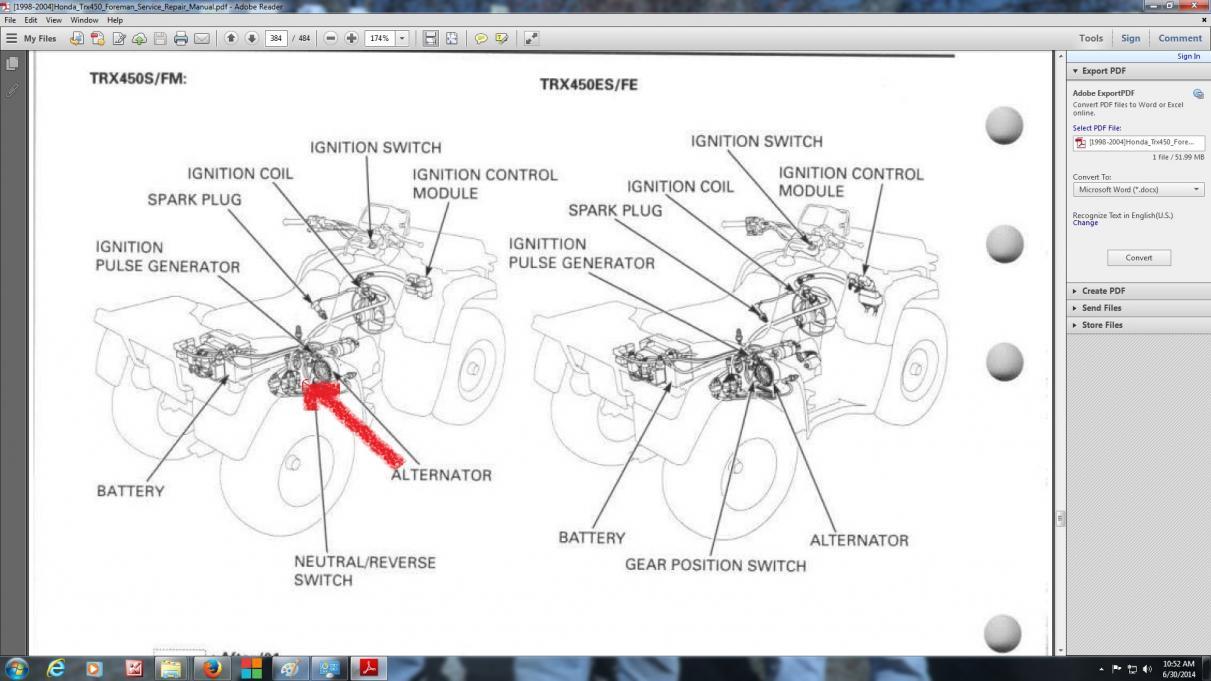1998 honda rancher wiring diagram fc 2316  honda foreman 450 wiring diagram schematic wiring  honda foreman 450 wiring diagram