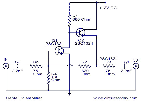 Super Cable Tv Amplifier Electronic Circuits And Diagrams Electronic Wiring Cloud Ostrrenstrafr09Org