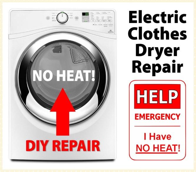 Sensational Electric Clothes Dryer Not Heating Fix Easy Diy Repair Guide Wiring Cloud Hemtshollocom