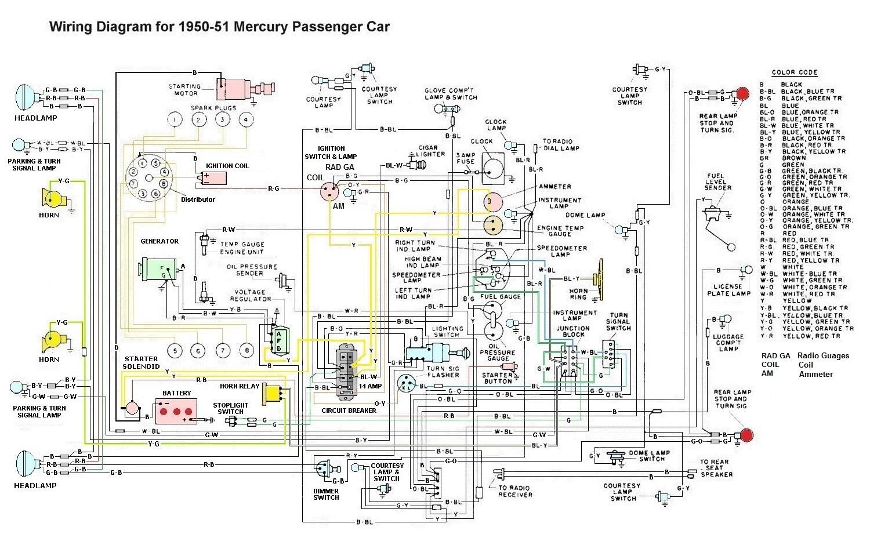 Ne 7672  1951 Mercury Wiring Diagram Download Diagram
