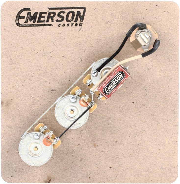 Surprising Emerson Custom Prewired Kit For Fender Jazz Bass Sweetwater Wiring Cloud Dulfrecoveryedborg