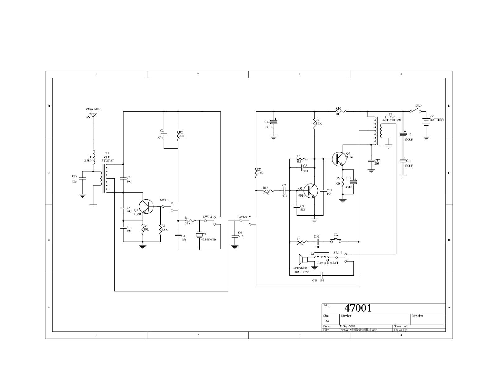 Prime Simple Walkie Talkie Circuit Diagram Easy To Build Wiring Cloud Cranvenetmohammedshrineorg