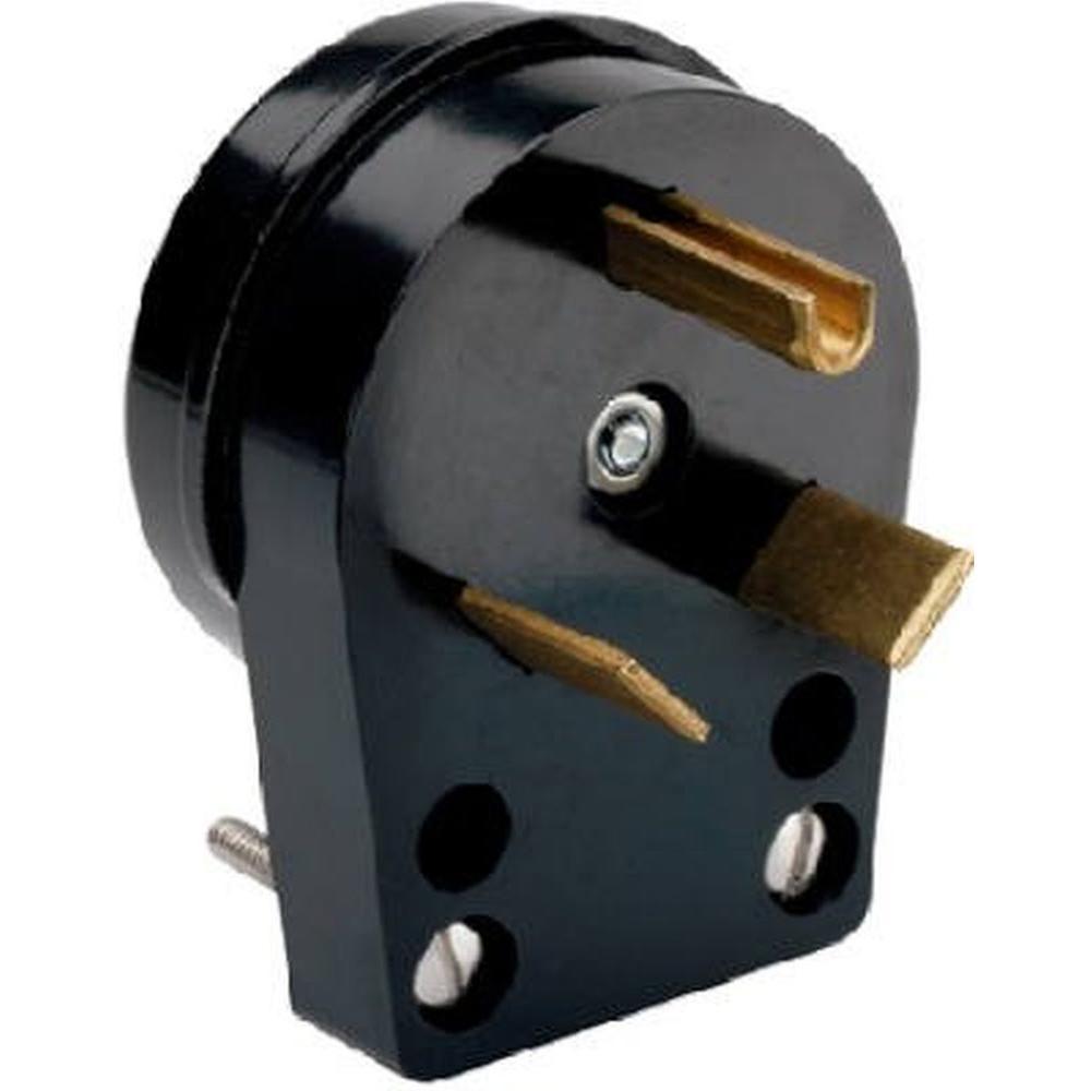 Sensational Eaton 30 Amp Heavy Duty Grade Angled Power Plug With 3 Wire Wiring Cloud Inklaidewilluminateatxorg