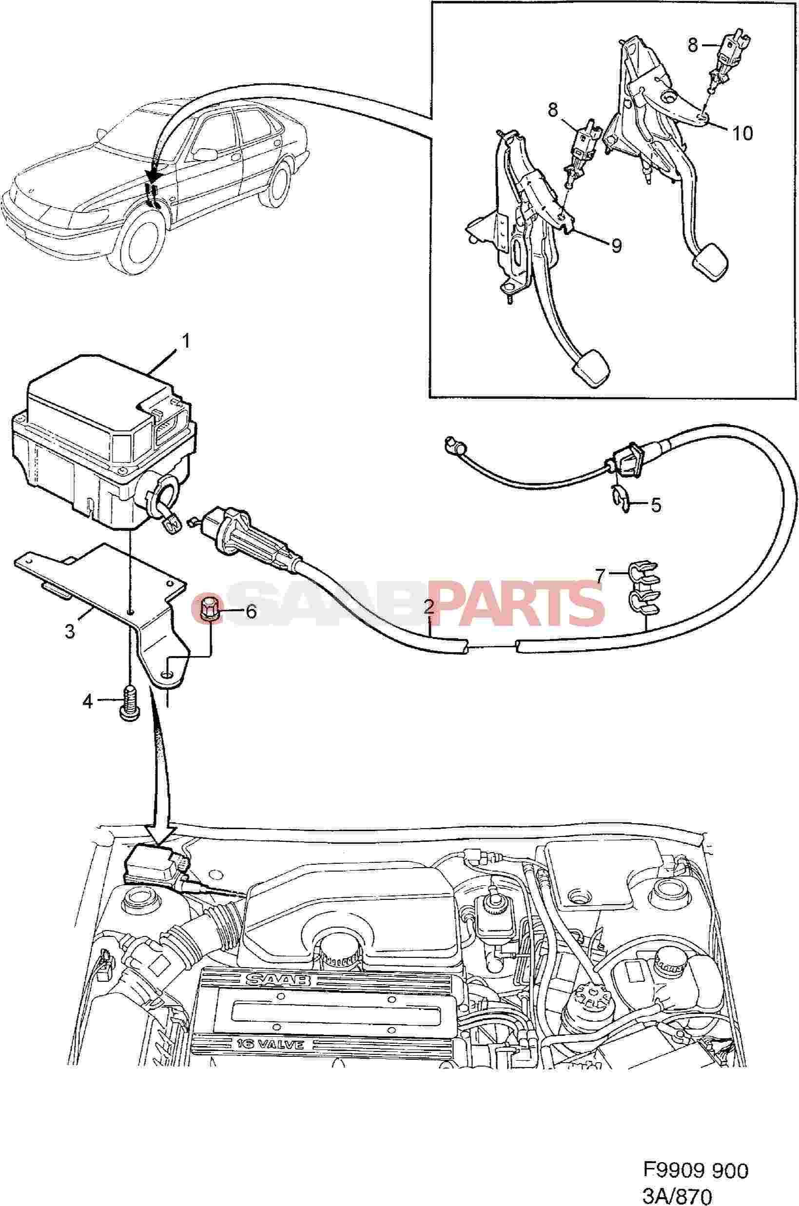 Awe Inspiring 4947099 Saab Pedel Contact Genuine Saab Parts From Esaabparts Com Wiring Cloud Lukepaidewilluminateatxorg