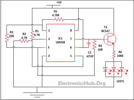 Strange Led Lamp Dimmer Project Circuit Diagram And Working Wiring Cloud Itislusmarecoveryedborg
