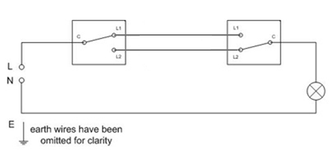 Remarkable Two Way Lighting Circuit Wiring Sparkyfacts Co Uk Wiring Cloud Biosomenaidewilluminateatxorg