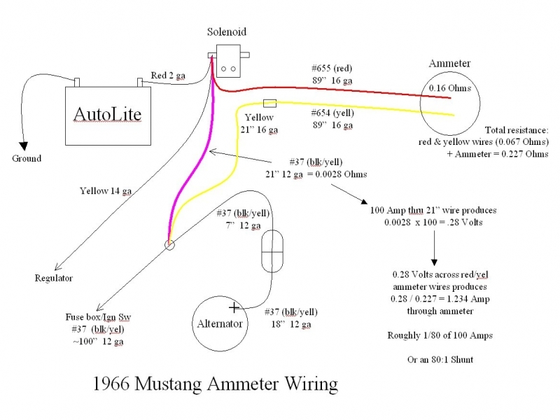 1965 Mustang Alternator Wiring Diagram