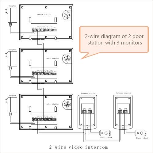 ws7179 wiring 2wire intercom circuit diagram schematic wiring