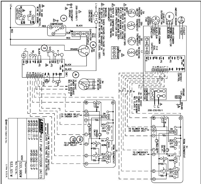 Old Lennox Thermostat Wiring Diagram