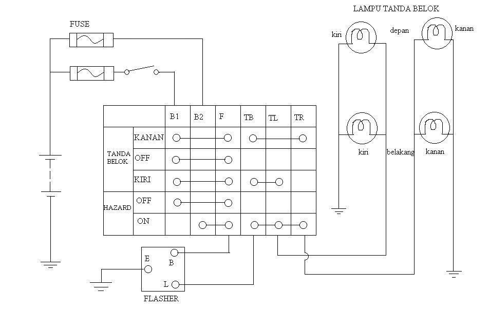 Wiring Diagram Lampu Kepala Toyota Kijang