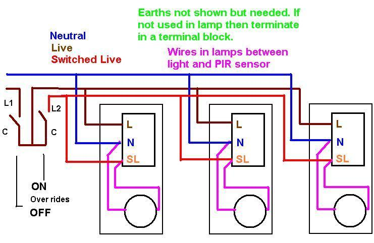 outside light wiring diagram uk kg 2588  wiring diagram for a pir light switch wiring a pir how to  wiring diagram for a pir light switch