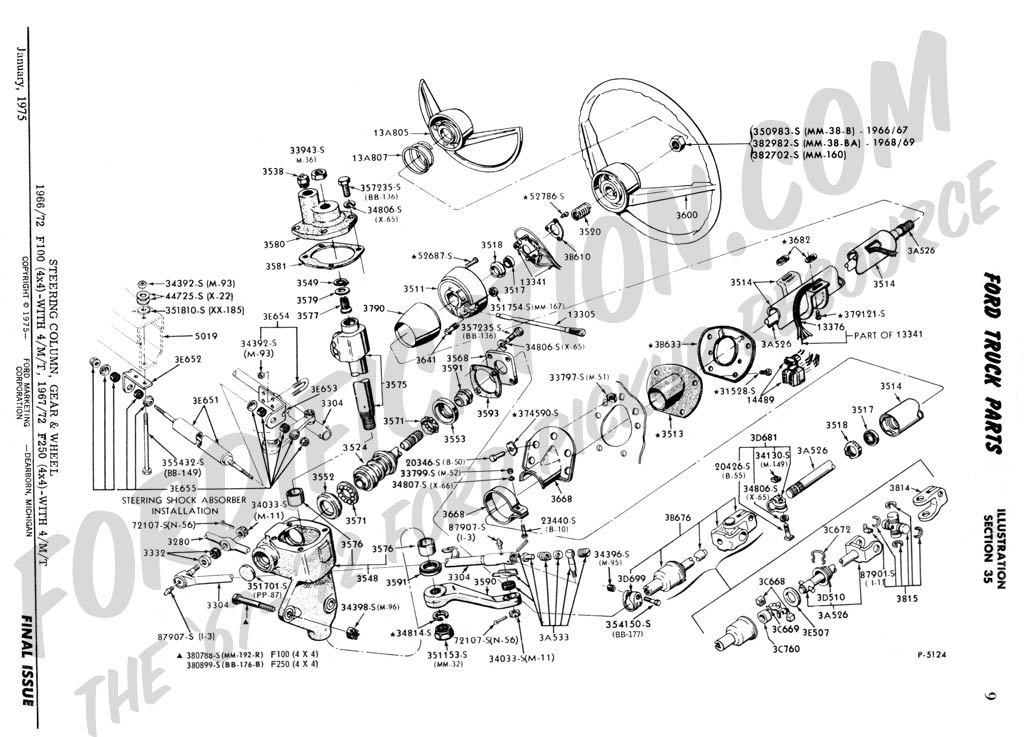 Ca 0692 Ford 1965 F100 F750 Truck Wiring Diagram Manual 65 Ebay Free Diagram