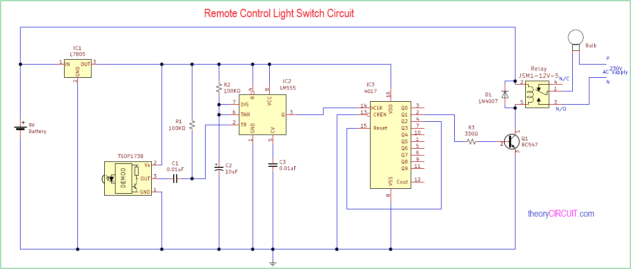 Peachy Ir Remote Control Light Switch Wiring Cloud Gufailluminateatxorg