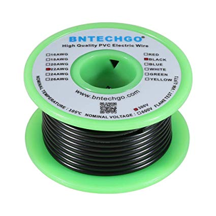 Pleasant Bntechgo 22 Awg 1007 Electric Wire 22 Gauge Pvc 1007 Wire Solid Wire Wiring Cloud Licukshollocom