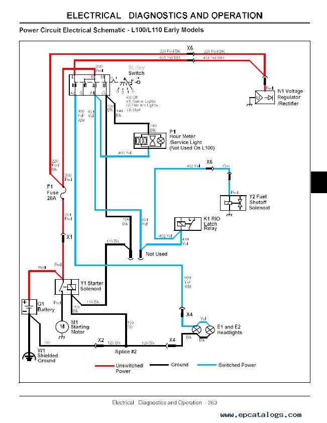 John Deere 100 Lawn Tractor Wiring Diagram