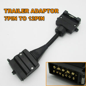 Fine 1Pc 7 Pin Flat Socket To 12 Pin Plug Trailer Wiring Adaptor Caravan Wiring Cloud Monangrecoveryedborg
