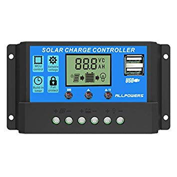 FLOUREON 20A Solar Power Charge Controller Panel Battery Intelligent Regulator
