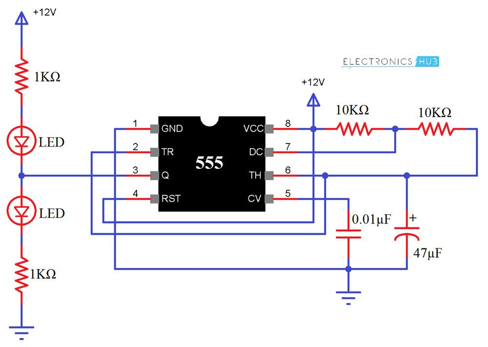 Astonishing 555 Timer Ic Testing Circuit And Its Working Arduino Circuit Wiring Cloud Monangrecoveryedborg
