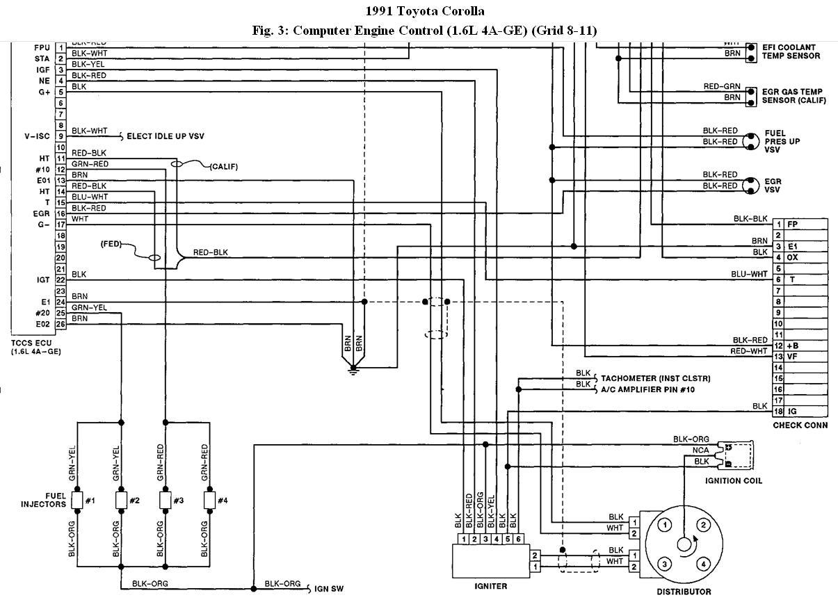 Ae 9412  Toyota Ecm Wiring Diagram Schematic Wiring