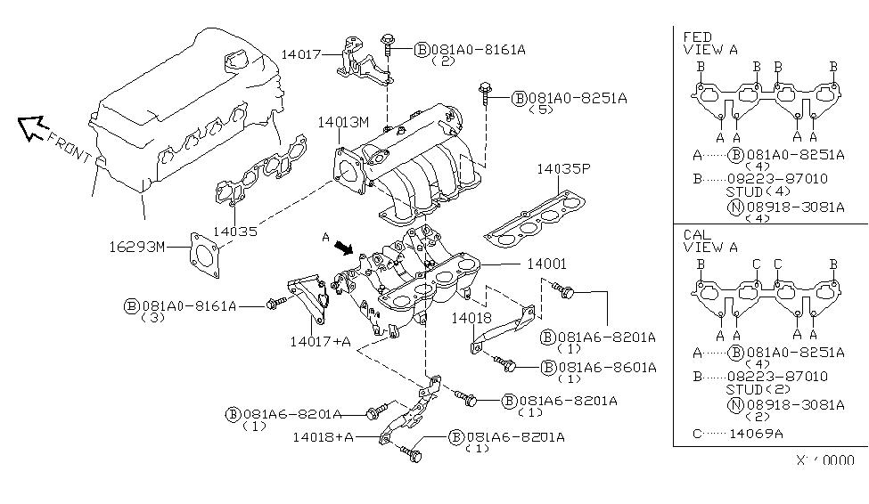 Nk 9435  2000 Nissan Datsun Sentra Exhaust Diagram