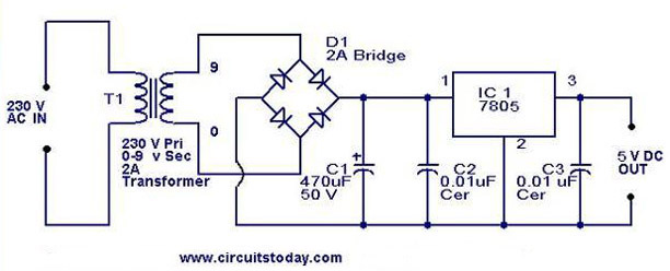 Excellent 5V Power Supply Using 7805 Ic With Circuit Diagram Wiring Cloud Faunaidewilluminateatxorg