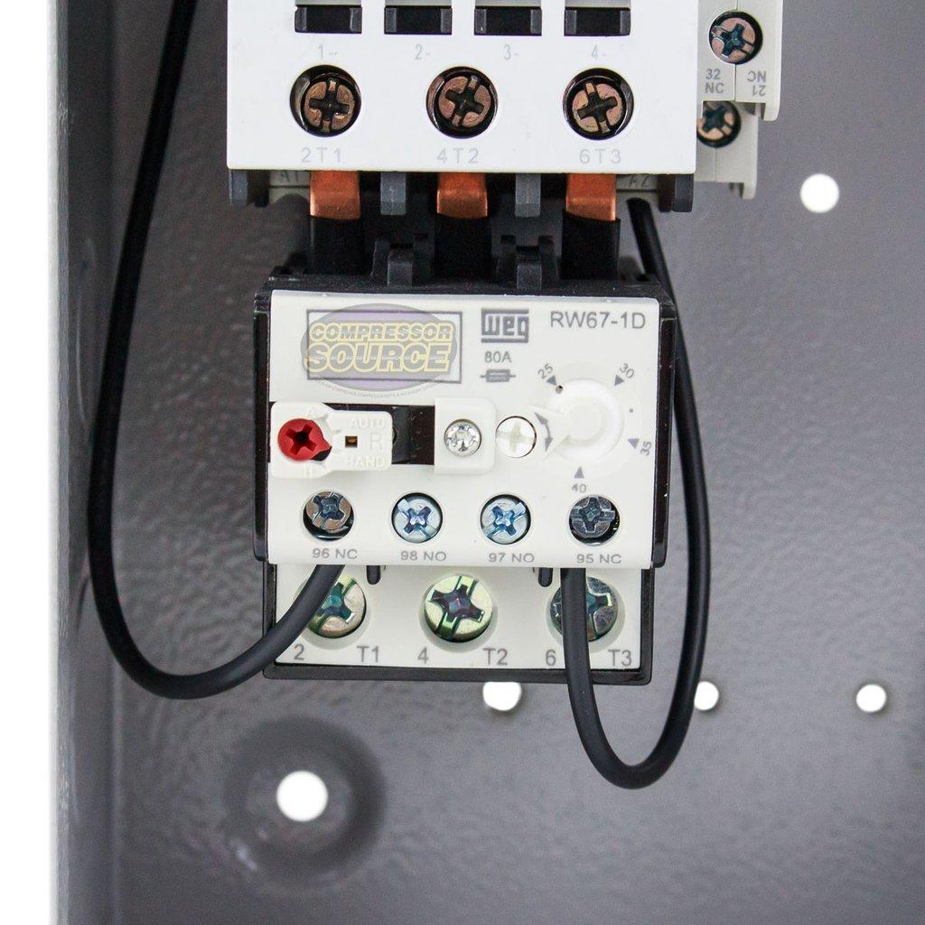 GARDNER DENVER MAGNETIC STARTER 5HP SINGLE PHASE 208-240 VOLT