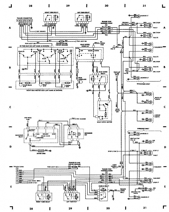 1988 jeep comanche wiring diagram electrical transformer