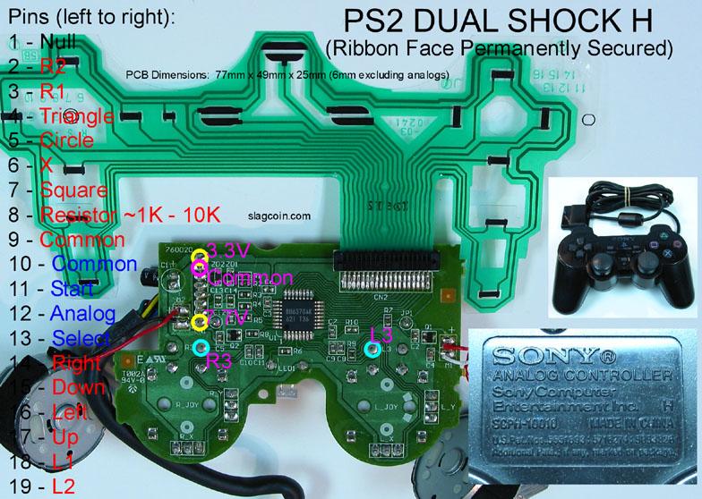 dualshock 2 wiring diagram ow 8611  ps2 controller diagram  ow 8611  ps2 controller diagram
