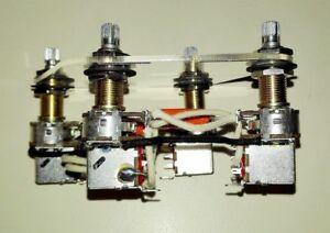 Enjoyable Custom Jimmy Page Wiring Harness Push Pull Pot 500K 4 Usa Wiring Cloud Filiciilluminateatxorg