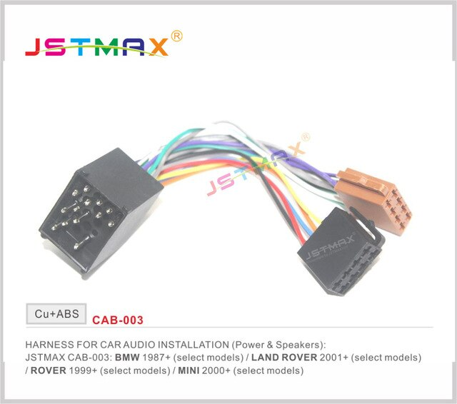 Fantastic Jstmax Iso Radio Adapter For Bmw Compact E30 E36 E46 E34 E39 Wire Wiring Cloud Histehirlexornumapkesianilluminateatxorg
