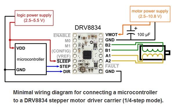 Awesome Drv8834 Low Voltage Stepper Motor Driver Carrier 2134 Pololu Wiring Cloud Loplapiotaidewilluminateatxorg