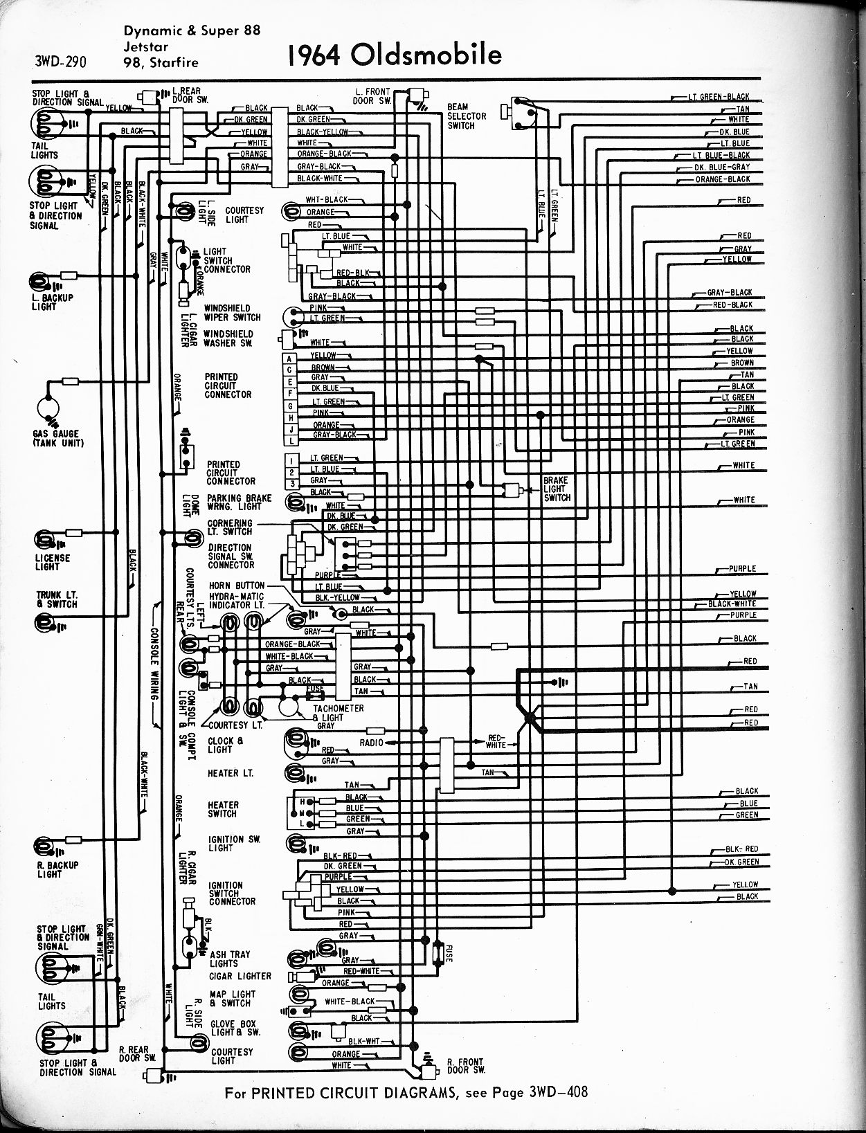 Swell Oldsmobile Wiring Diagrams The Old Car Manual Project Wiring Cloud Ymoonsalvmohammedshrineorg