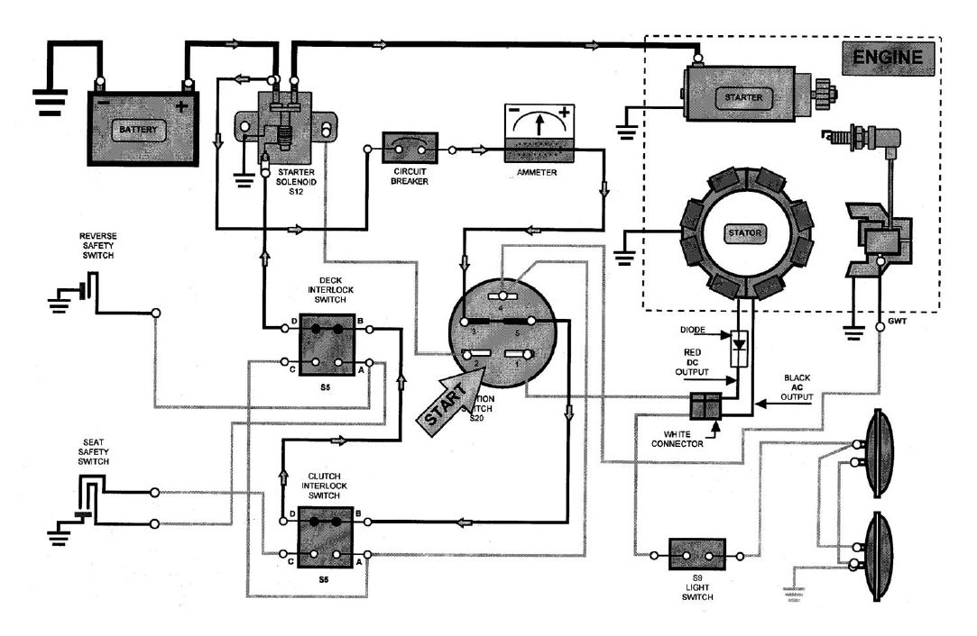Riding Mower Wire Diagram