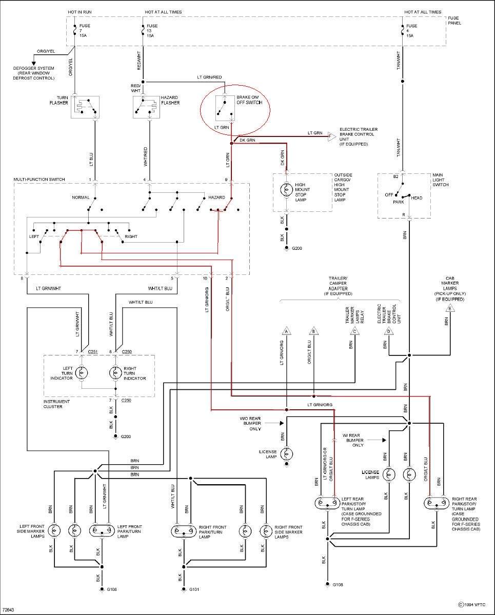 Awe Inspiring F150 Brake Light Wiring Diagram Basic Electronics Wiring Diagram Wiring Cloud Licukshollocom