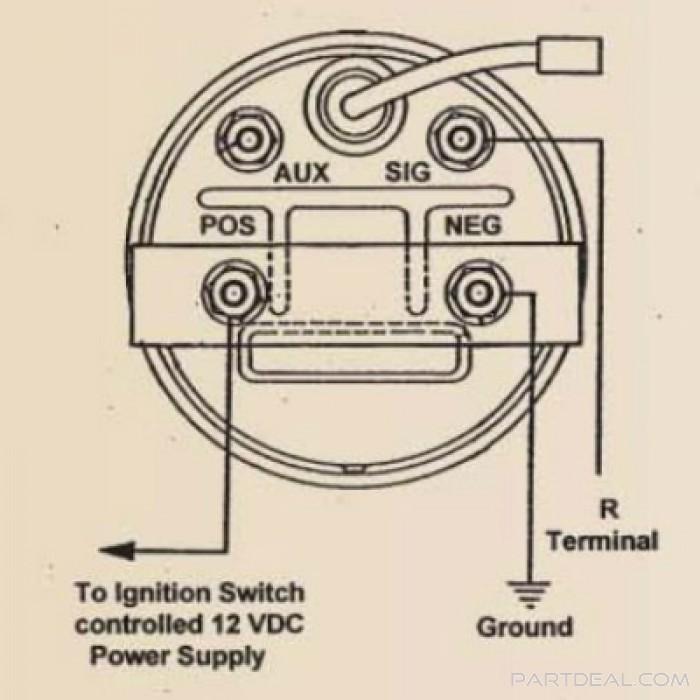 Stewart Warner Voltmeter Wiring Diagram