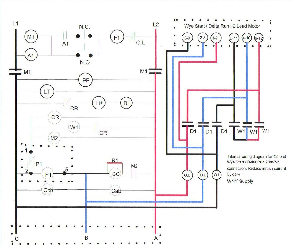 Wiring a 12 lead motor