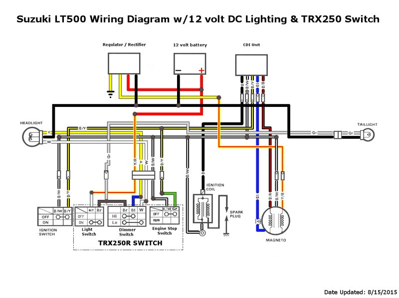 DF_5955] Honda Sportrax 250Ex On 2001 Honda Trx 250 Wiring Diagram Starter
