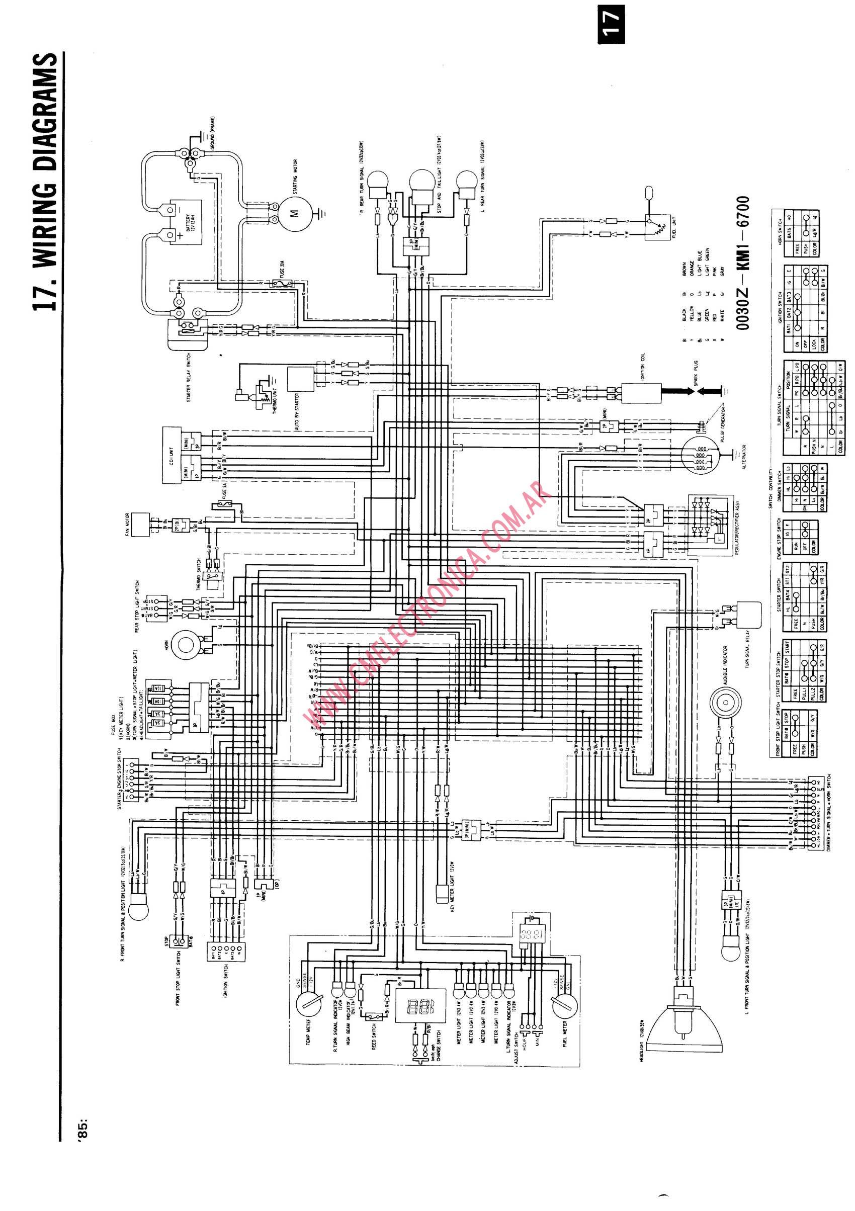 1987 Honda Elite Wiring Diagram