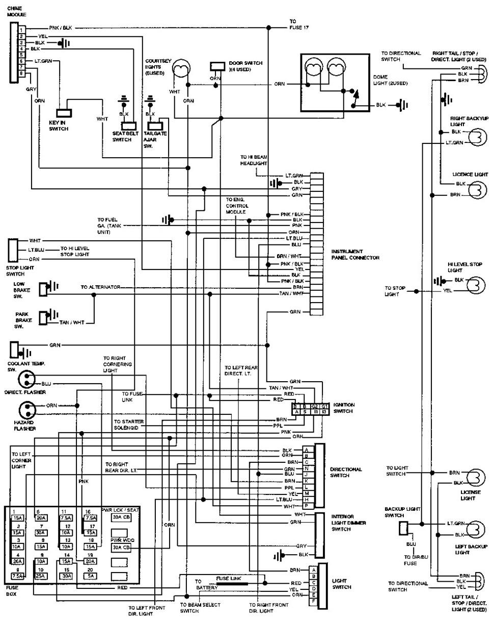 Wiring Diagram 1990 Geo Storm