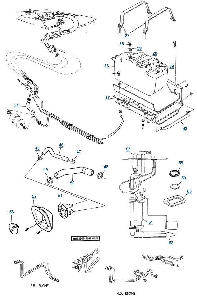 Astonishing 89 Jeep Yj Wiring Diagram Yj Wrangler Fuel Parts Filler Hose Wiring Cloud Uslyletkolfr09Org